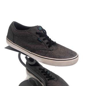 Vans chocolate brown & blue sneakers size 12